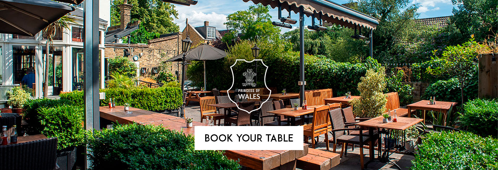 Book Your Table at The Princess Of Wales